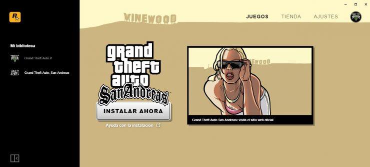 Rockstar Games Launcher con GTA: San Andreas gratis