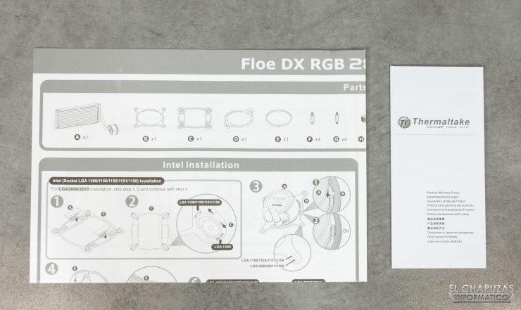 Thermaltake Floe DX ARGB 280 TT Premium Edition - Documentación