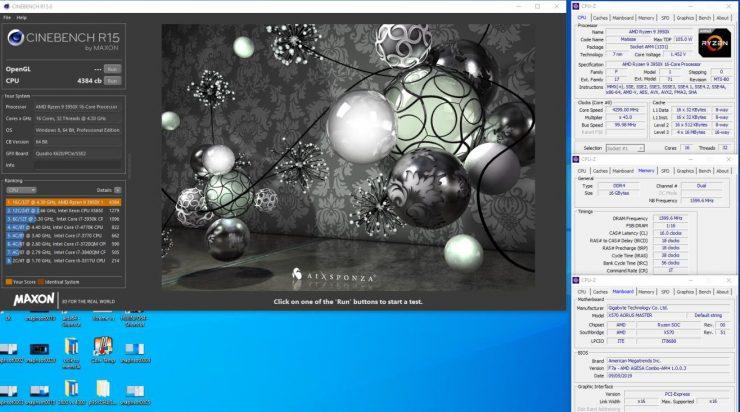 AMD Ryzen 9 3950X @ 4.30 GHz Cinebench R15 740x412 1
