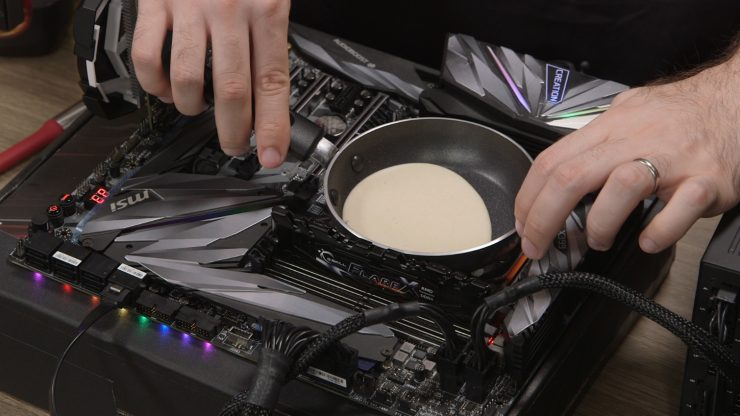 Threadripper 2990WX cocinando crepe