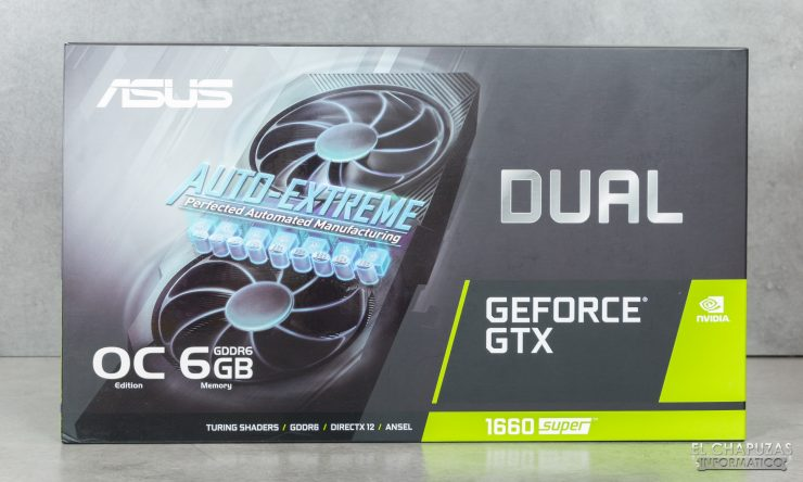 Asus GeForce GTX 1660 SUPER DUAL OC - Embalaje frontal