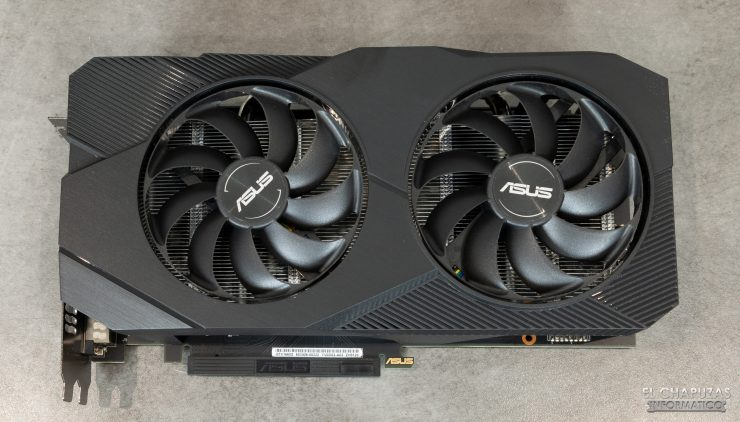 Asus GeForce GTX 1660 SUPER DUAL OC - Vista superior