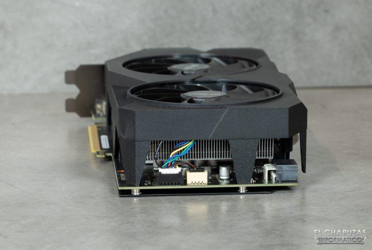 Asus GeForce GTX 1660 SUPER DUAL OC - Vista lado trasero