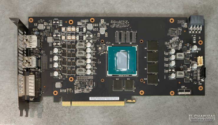 Asus GeForce GTX 1660 SUPER DUAL OC - PCB frontal limpio