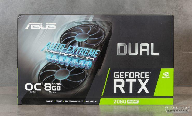 Asus GeForce RTX 2060 SUPER DUAL OC - Embalaje frontal