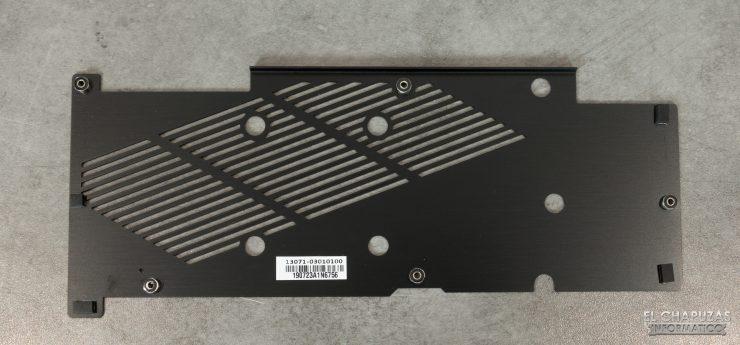 Asus GeForce RTX 2060 SUPER DUAL OC - Backplate desmontado