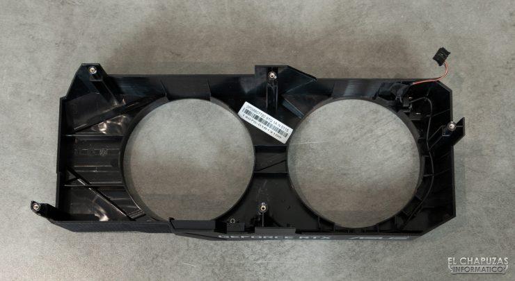Asus GeForce RTX 2060 SUPER DUAL OC - Carenado del disipador desmontado