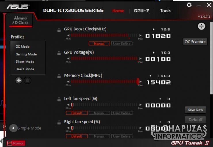 Asus GeForce RTX 2060 SUPER DUAL OC - OC