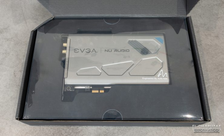 EVGA NU Audio - Embalaje interior
