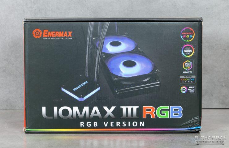 Enermax Liqmax III RGB 240 - Embalaje Frontal