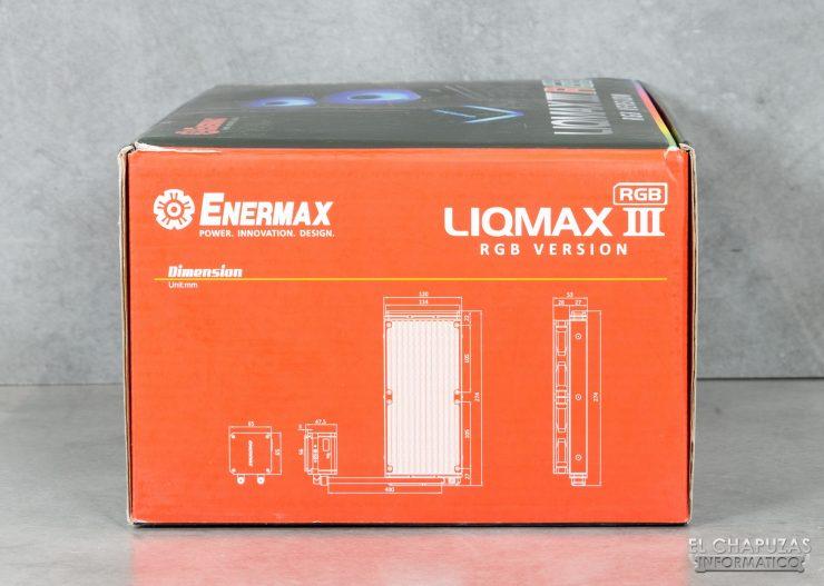 Enermax Liqmax III RGB 240 - Embalaje lateral