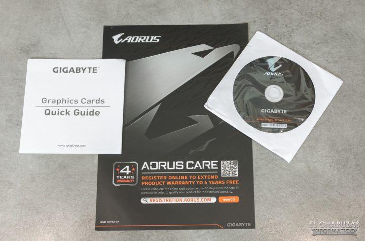 Gigabyte GeForce RTX 2080 SUPER Gaming OC 8G - Accesorios
