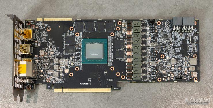 Gigabyte GeForce RTX 2080 SUPER Gaming OC 8G - PCB frontal