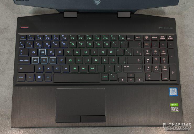 HP Omen 15-dh0001ns - Teclado RGB