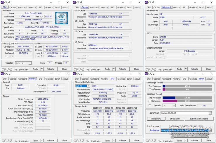 HP Pavilion 15-dk0010ns - CPU-Z