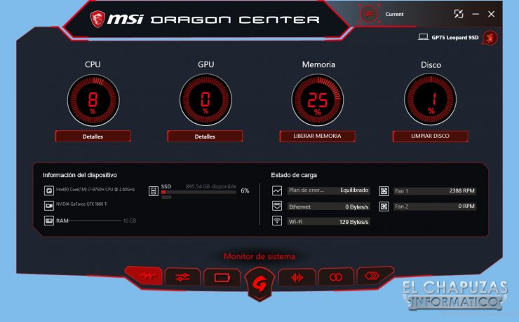 MSI GP75 Leopard 9SD - Software 1