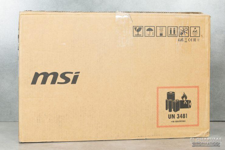 MSI Prestige 15 - Embalaje exterior