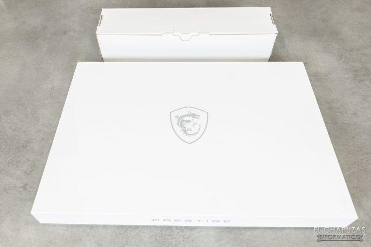 MSI Prestige 15 - Embalaje exterior 2