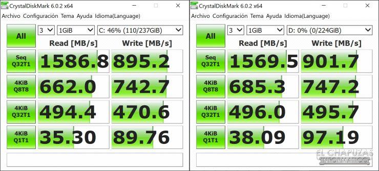 MSI Prestige 15 - CrystalDiskMark