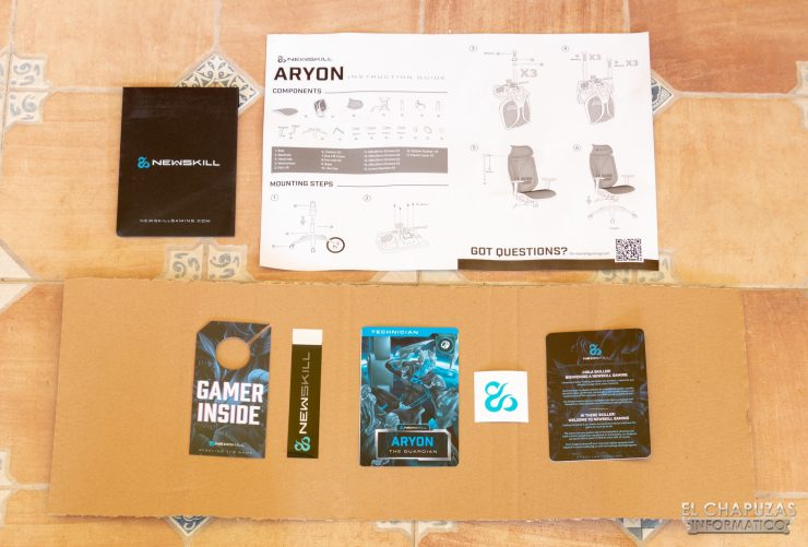 Newskill Aryon - Documentación y merchandising