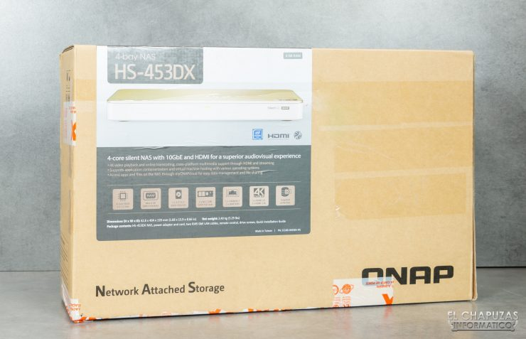 QNAP HS-453DX - Embalaje exterior