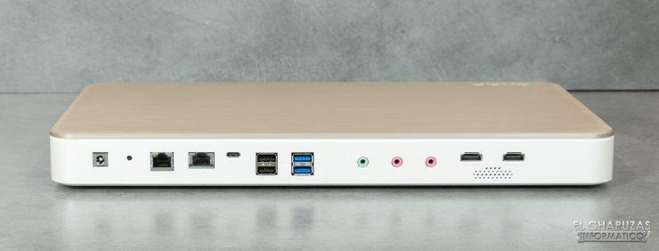 QNAP HS-453DX - Conectores