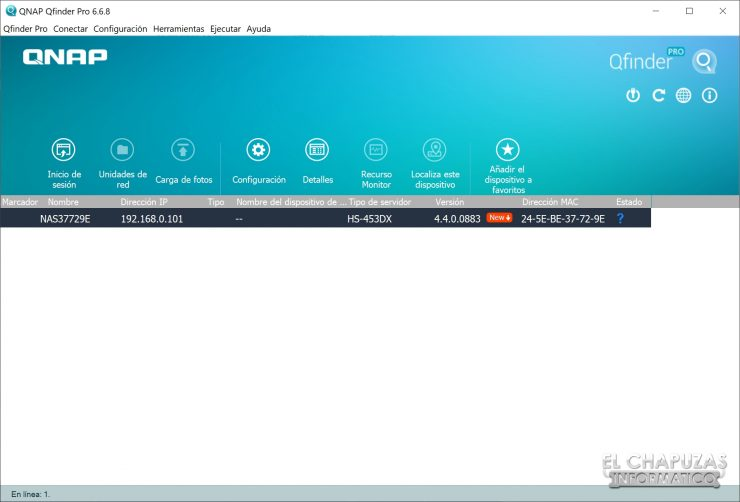 QNAP HS-453DX - Software - Qfinder