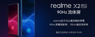 El Realme X2 Pro llegará con una tasa de muestreo táctil de 135 Hz