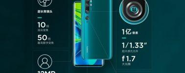 El Xiaomi Mi CC9 Pro llegará como el Mi Note 10 fuera del mercado chino