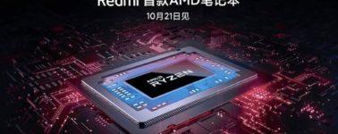 Xiaomi adelanta la llegada de un RedmiBook propulsado por AMD Ryzen