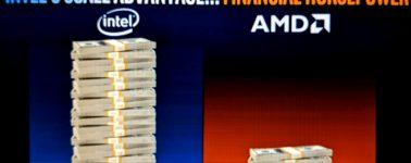 Para Intel, su mejor ventaja competitiva contra AMD es…. el dinero que han ganado