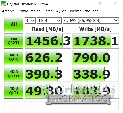Asus ROG Zephyrus S GX502GW - CrystalDiskMark