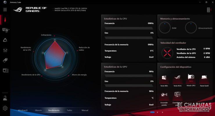 Asus ROG Zephyrus S GX502GW - Software 1