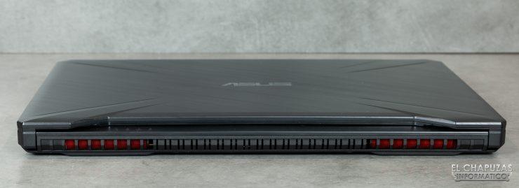 Asus TUF Gaming FX505DD - Margen trasero