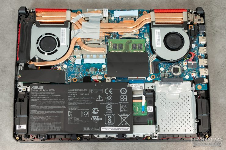 Asus TUF Gaming FX505DD - Interior