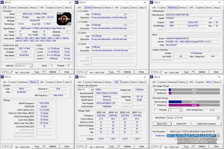 Asus TUF Gaming FX505DD - CPU-Z