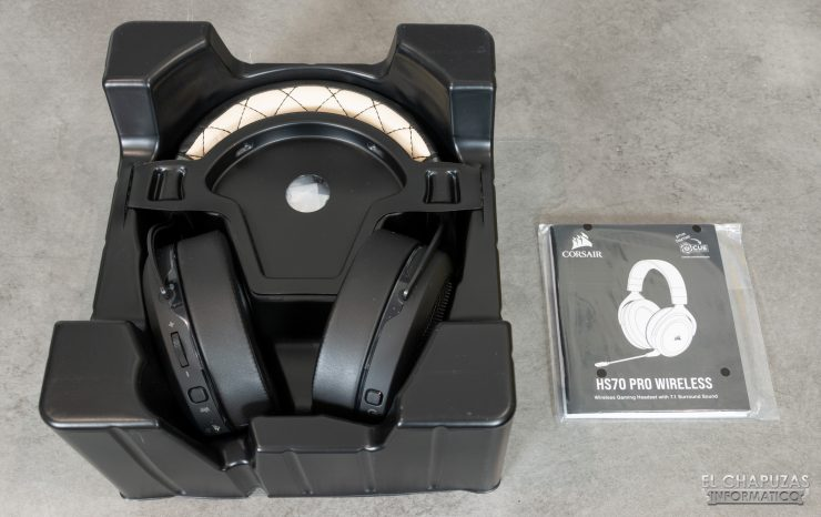 Corsair HS70 Pro Wireless - Embalaje interior