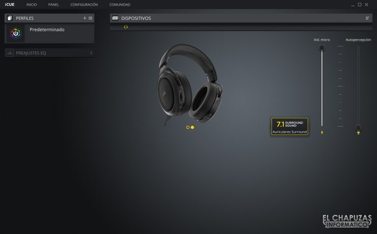 Corsair HS70 Pro Wireless - Software 3