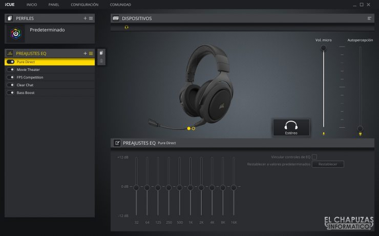 Corsair HS70 Pro Wireless - Software 2