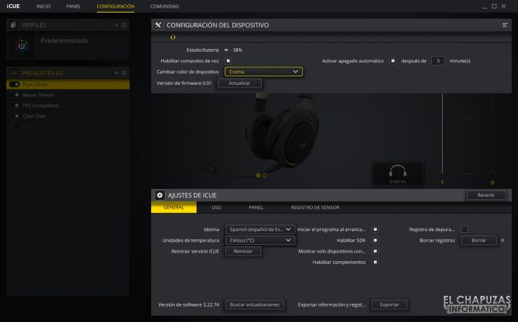 Corsair HS70 Pro Wireless - Software 4