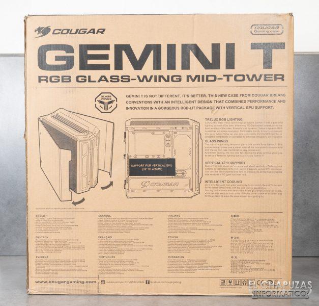 Cougar Gemini T - Embalaje trasero
