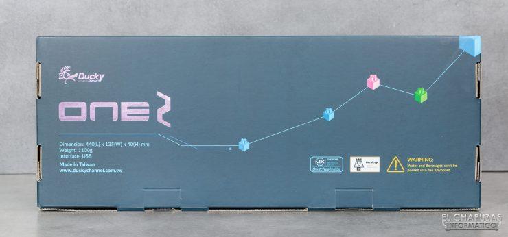 Ducky One 2 RGB - Embalaje trasero