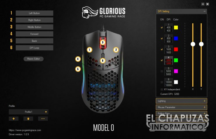 Glorious PC Gaming Race Model O - Software 1