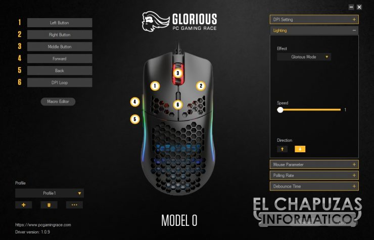 Glorious PC Gaming Race Model O - Software 2