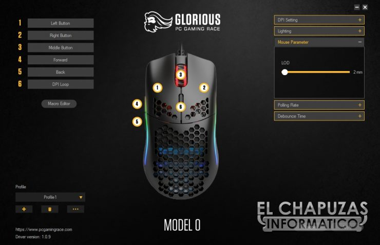 Glorious PC Gaming Race Model O - Software 3