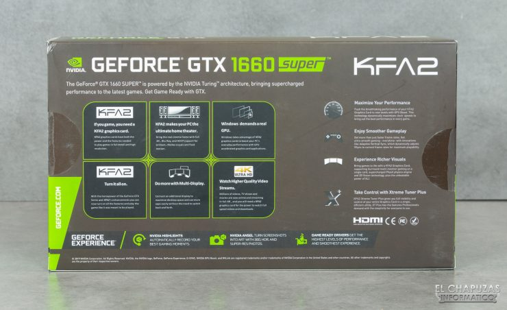KFA2 GeForce GTX 1660 SUPER EX - Embalaje trasero