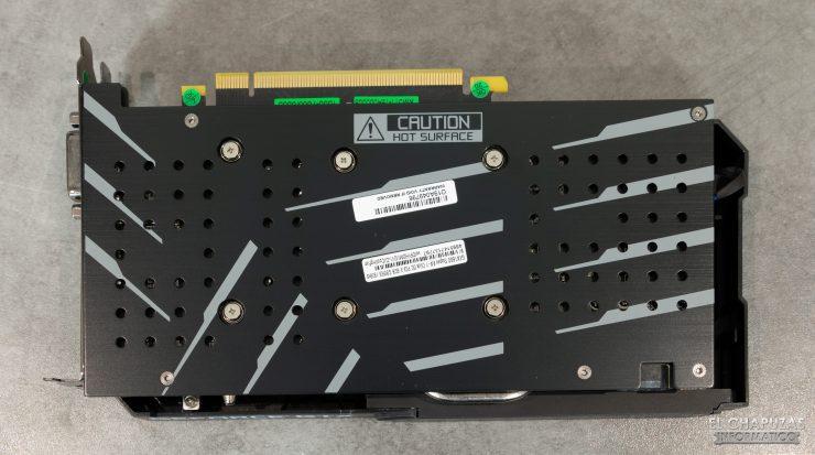 KFA2 GeForce GTX 1660 SUPER EX - Backplate
