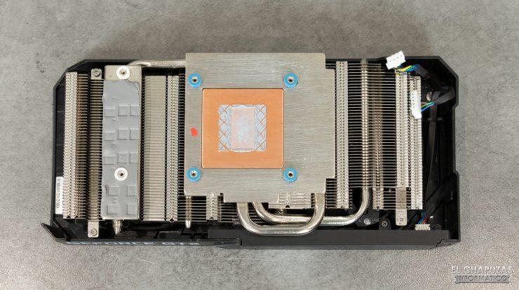 KFA2 GeForce GTX 1660 SUPER EX - Disipador desmontado