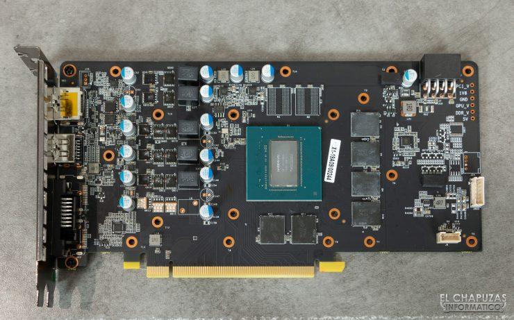 KFA2 GeForce GTX 1660 SUPER EX - PCB frontal limpio