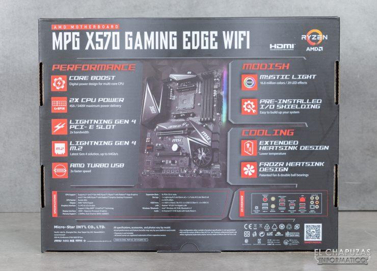 MSI MPG X570 Gaming Edge Wi-Fi - Embalaje 2